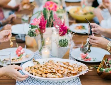 sriracha honey grilled shrimp