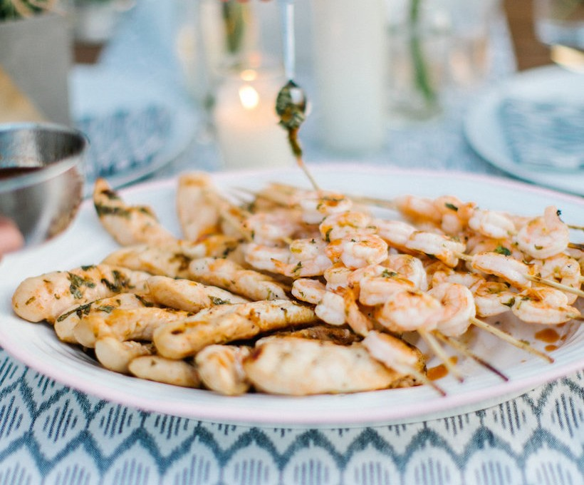 sriracha honey grilled shrimp