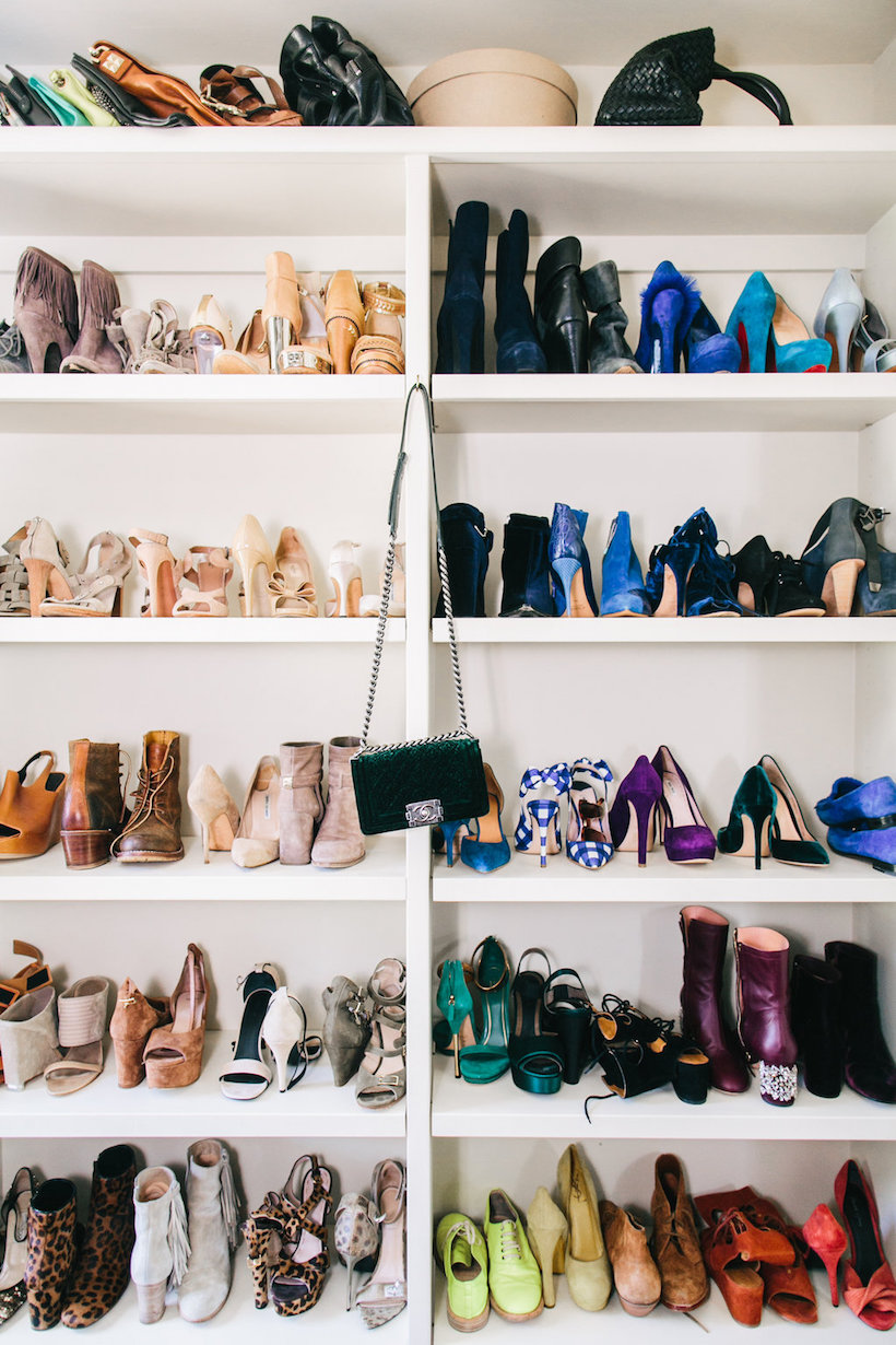 pretty shoe storage
