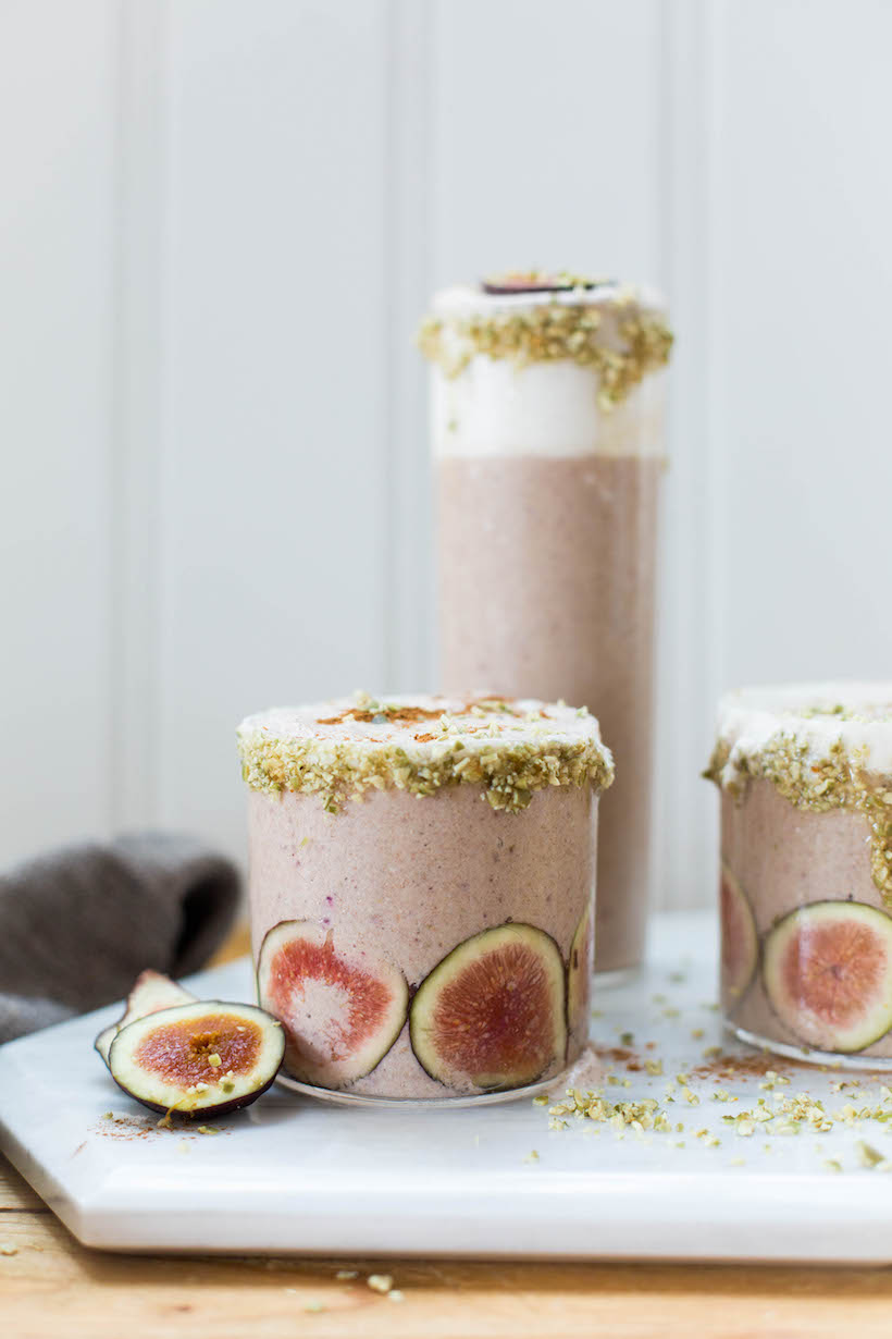 fig and cinnamon smoothie