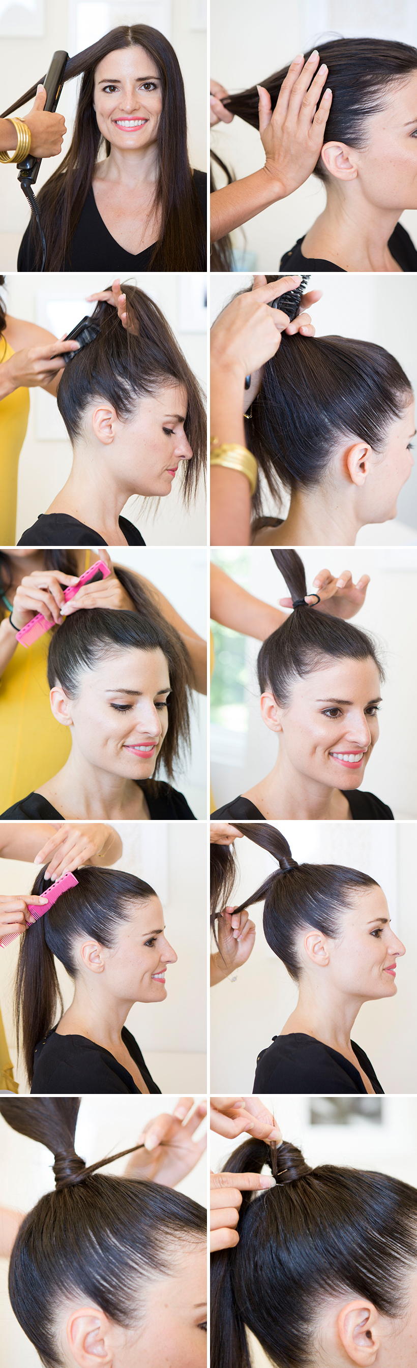 How To Get A Runway Perfect Slicked Back Pony Camille Styles