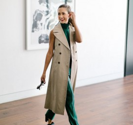 sleeveless trenchcoat