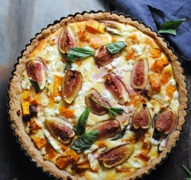 Pumpkin, Basil & Fig Tart