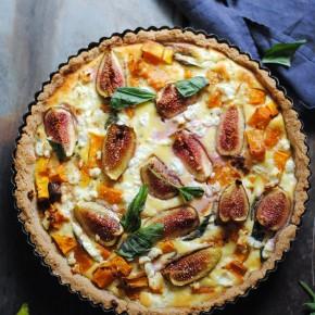 Pumpkin, Basil & Fig Tart