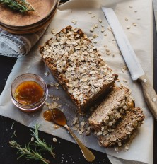 Rosemary & Apple Zucchini Bread with Ginger