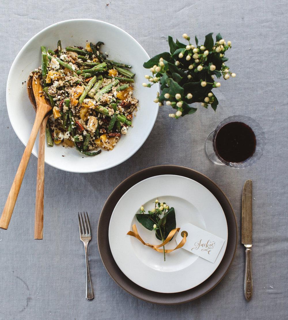 Asparagus, Quinoa, & Rice Salad with Goat Cheese & Maple-Tahini ...