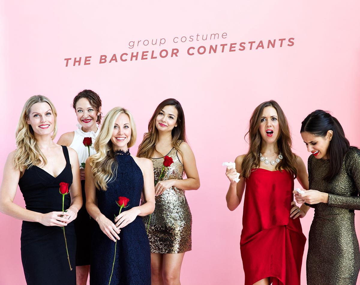 ¡Concursantes de despedida de soltera!  La idea de disfraz de grupo más fácil de todos.  GENIO.