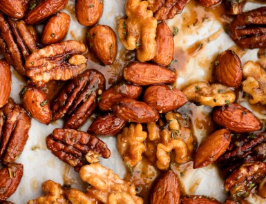 Maple Roasted Nuts with Mixed Herbs!