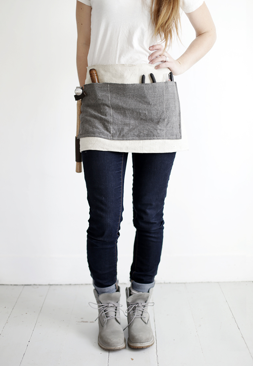 diy work apron