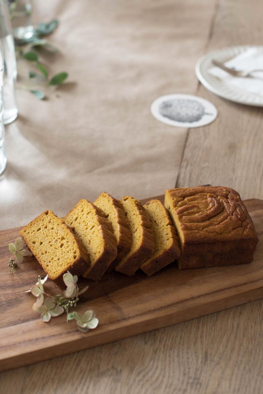 pumpkin mochi tea cake