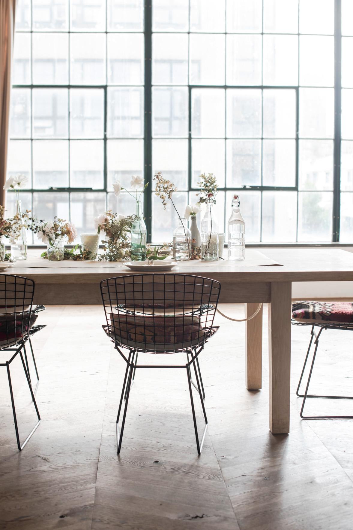 modern minimalist brunch