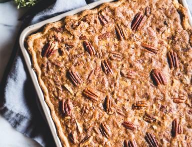 Chocolate Pecan Slab Pie