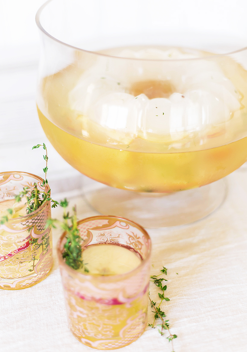 Apple Brandy Punch // this year's Thanksgiving cocktail