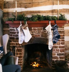 stockings in cabin