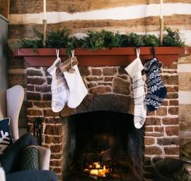 stockings in cabin