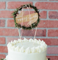 rosemary wreath cake topper!