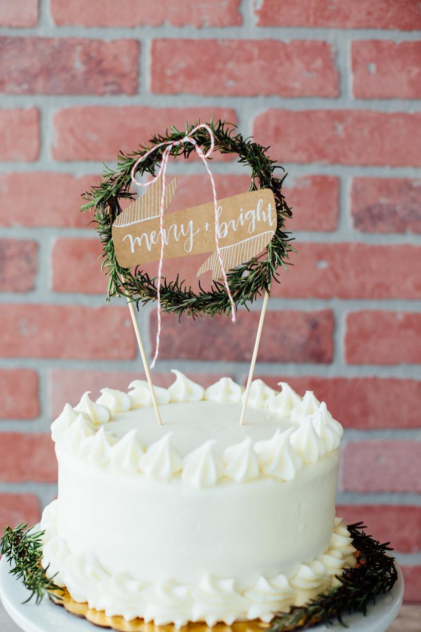 rosemary wreath cake topper!