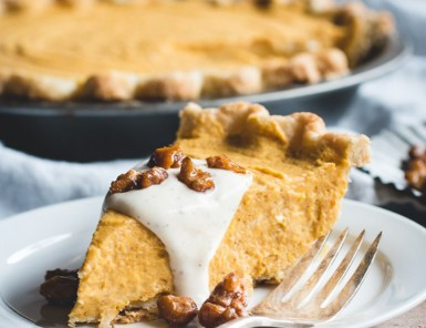 No-Bake Thanksgiving Pies: Pumpkin Mascarpone Pie