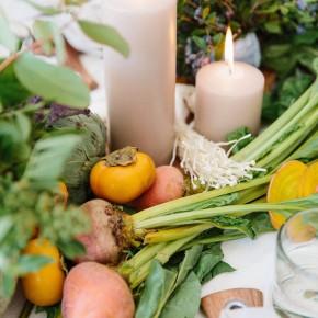 farmers market inspired thanksgiving table