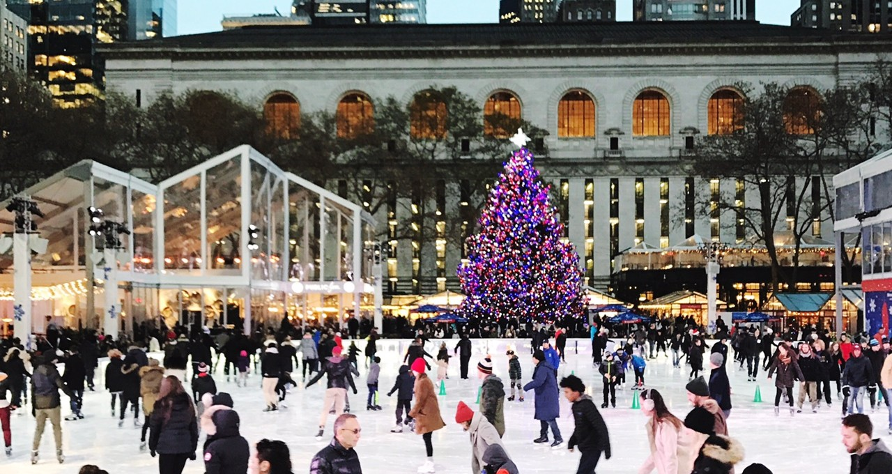 Bryant Park at Christmas, NYC