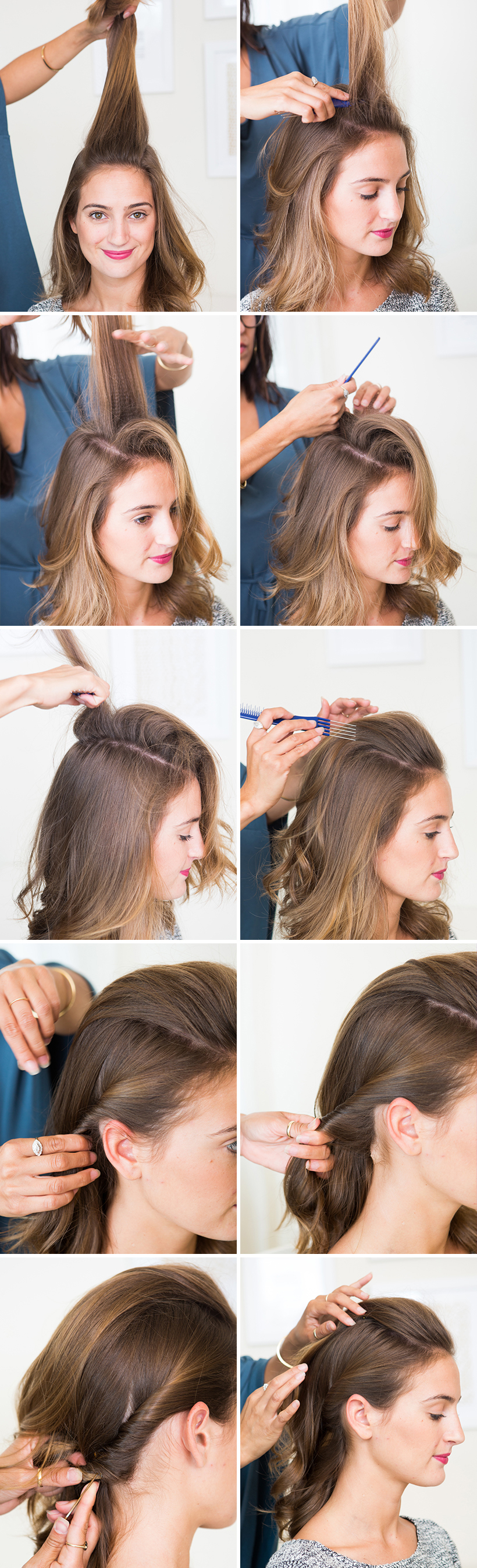 The Half Up Pompadour Camille Styles