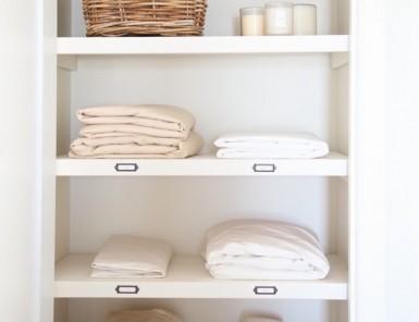 clean linen closet