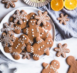 Vegan Orange Gingerbread Cookies