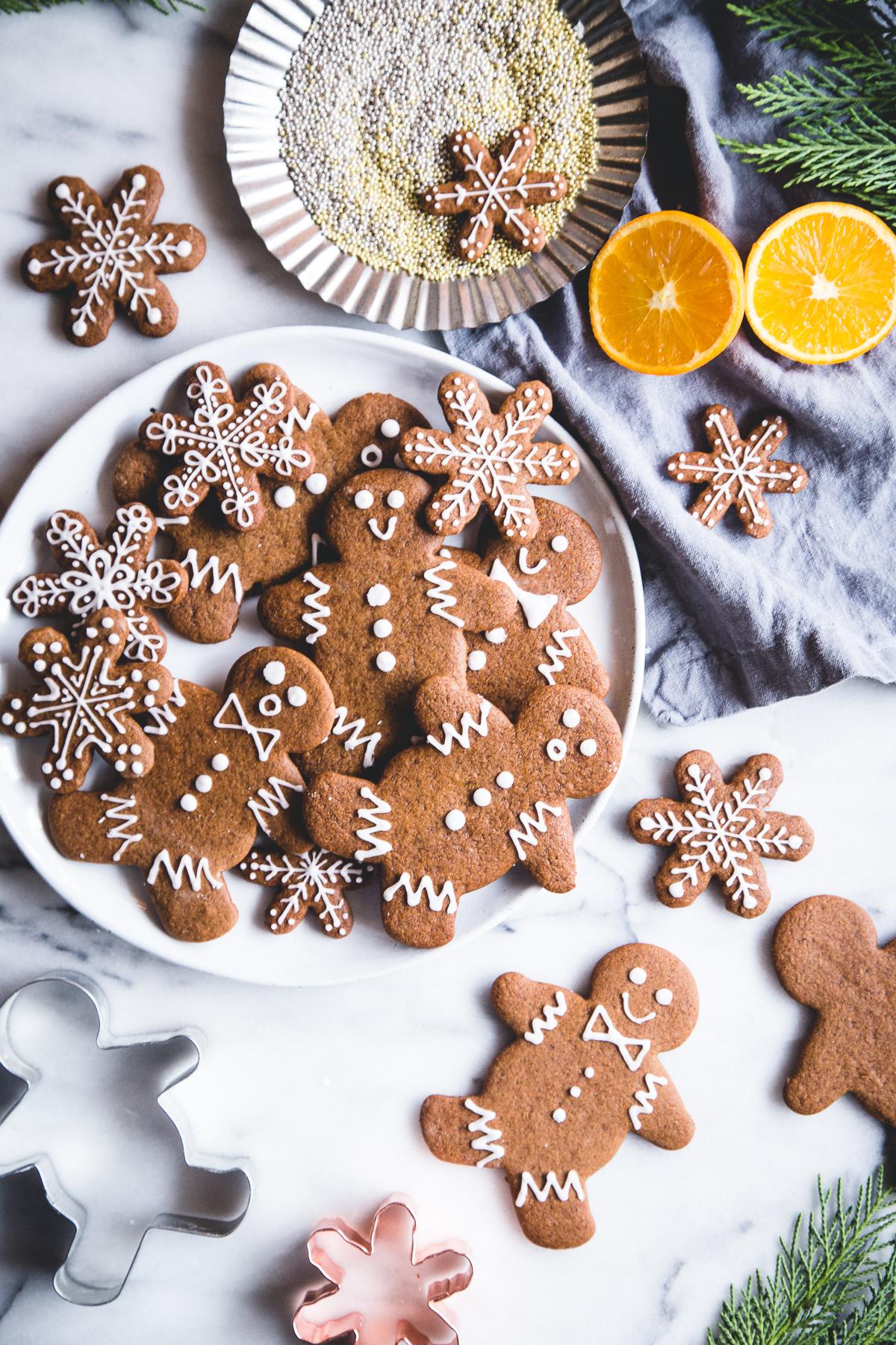 Vegan Orange Gingerbread Cookies Camille Styles