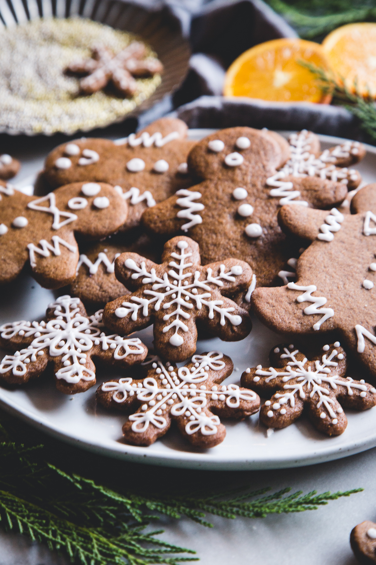 Vegan Orange Gingerbread Cookies