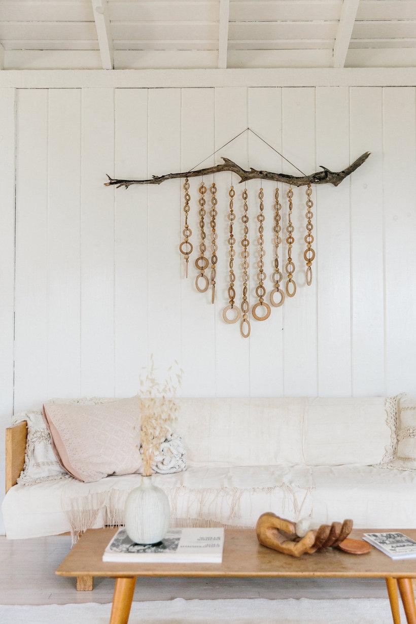 earthy minimalist living room