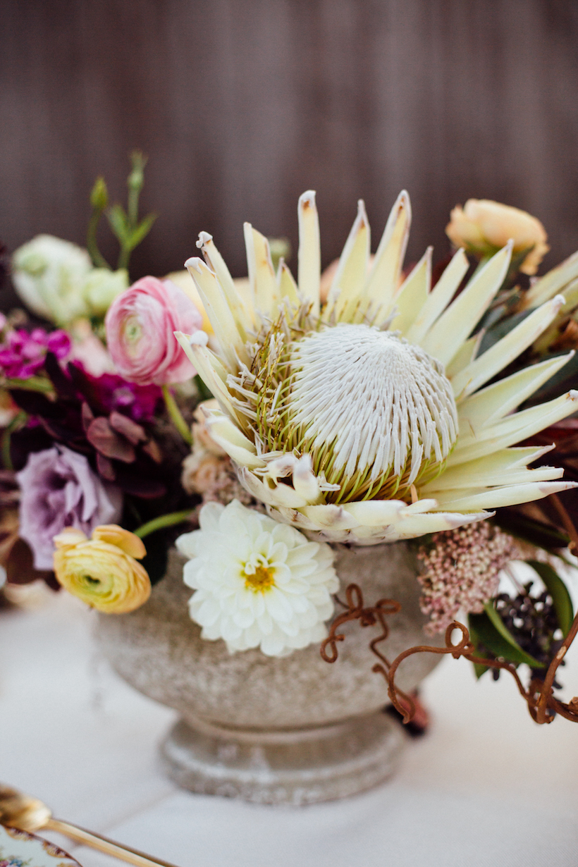 king protea floral arrangement