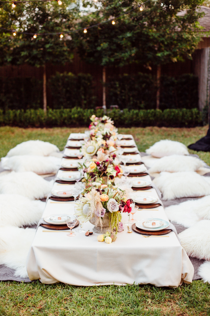 Boho Backyard Party : Bohemian Backyard Dinner Party  Camille Styles
