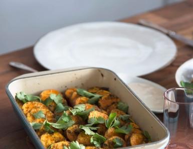 chermoula roasted sweet potatoes