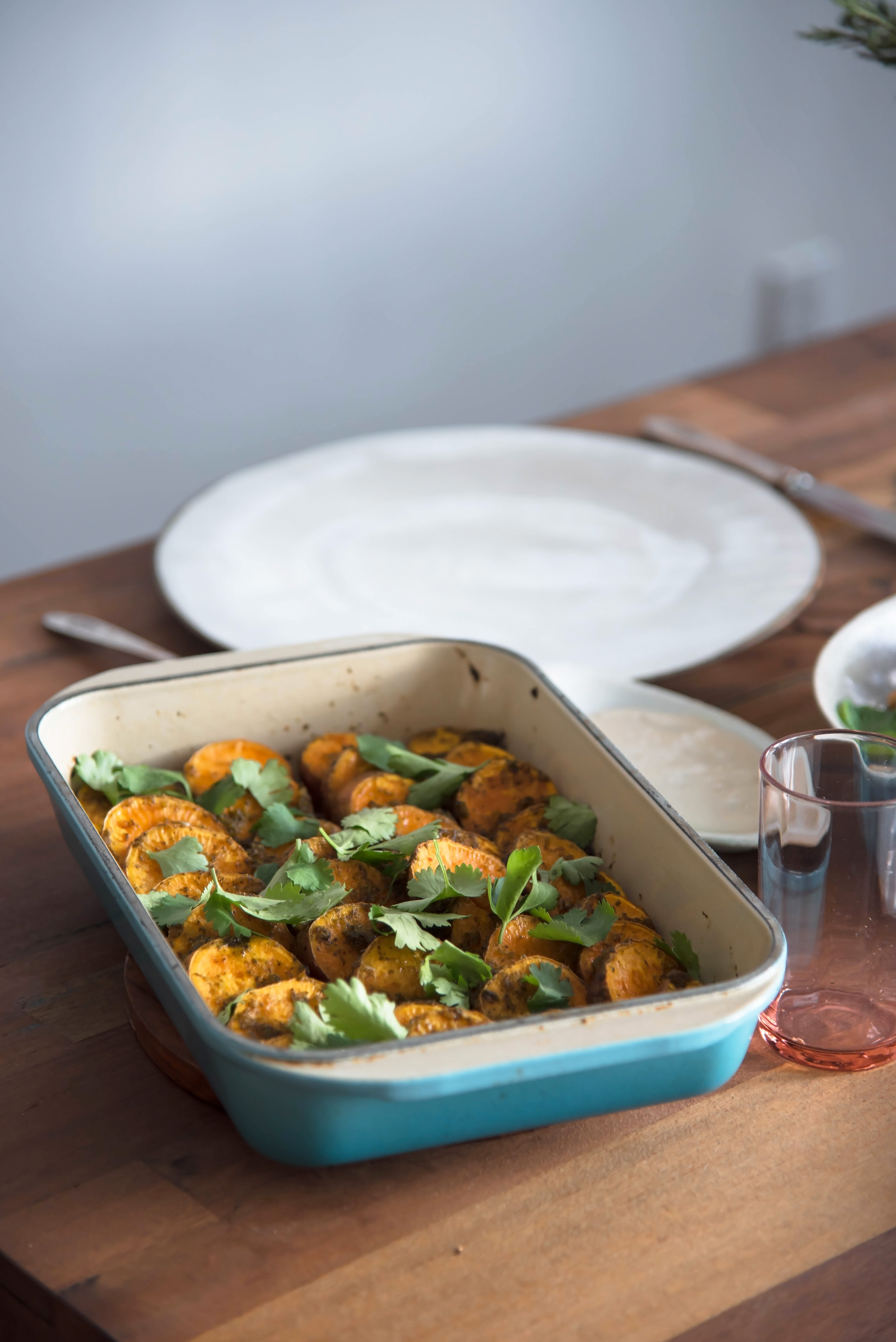 chermoula roasted sweet potatoes