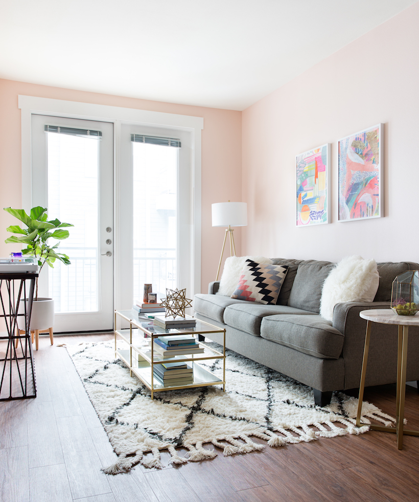 Are blush and gray the new neutrals camille styles - Gray living room walls ...