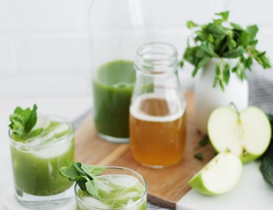 This minty kombucha mocktail will be your new favorite drink