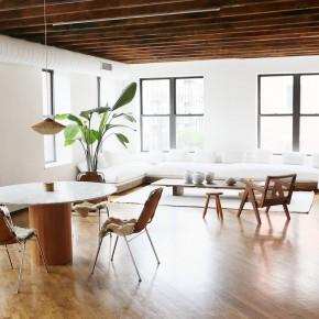 warm minimalist living room