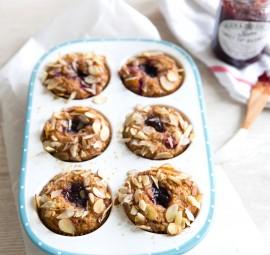 gluten-free jam-filled muffins