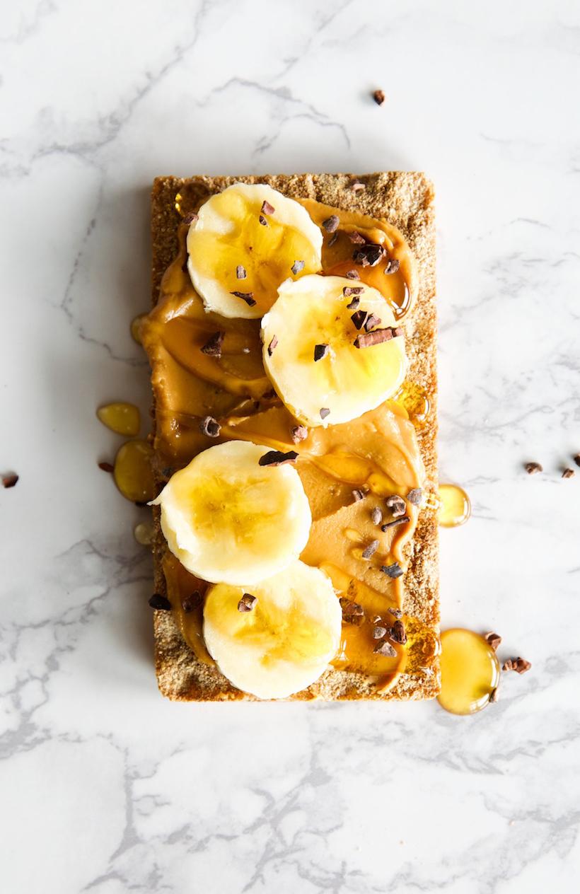 peanut butter banana was a cracker