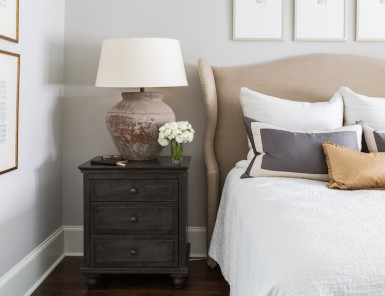 classic and cozy neutral bedroom