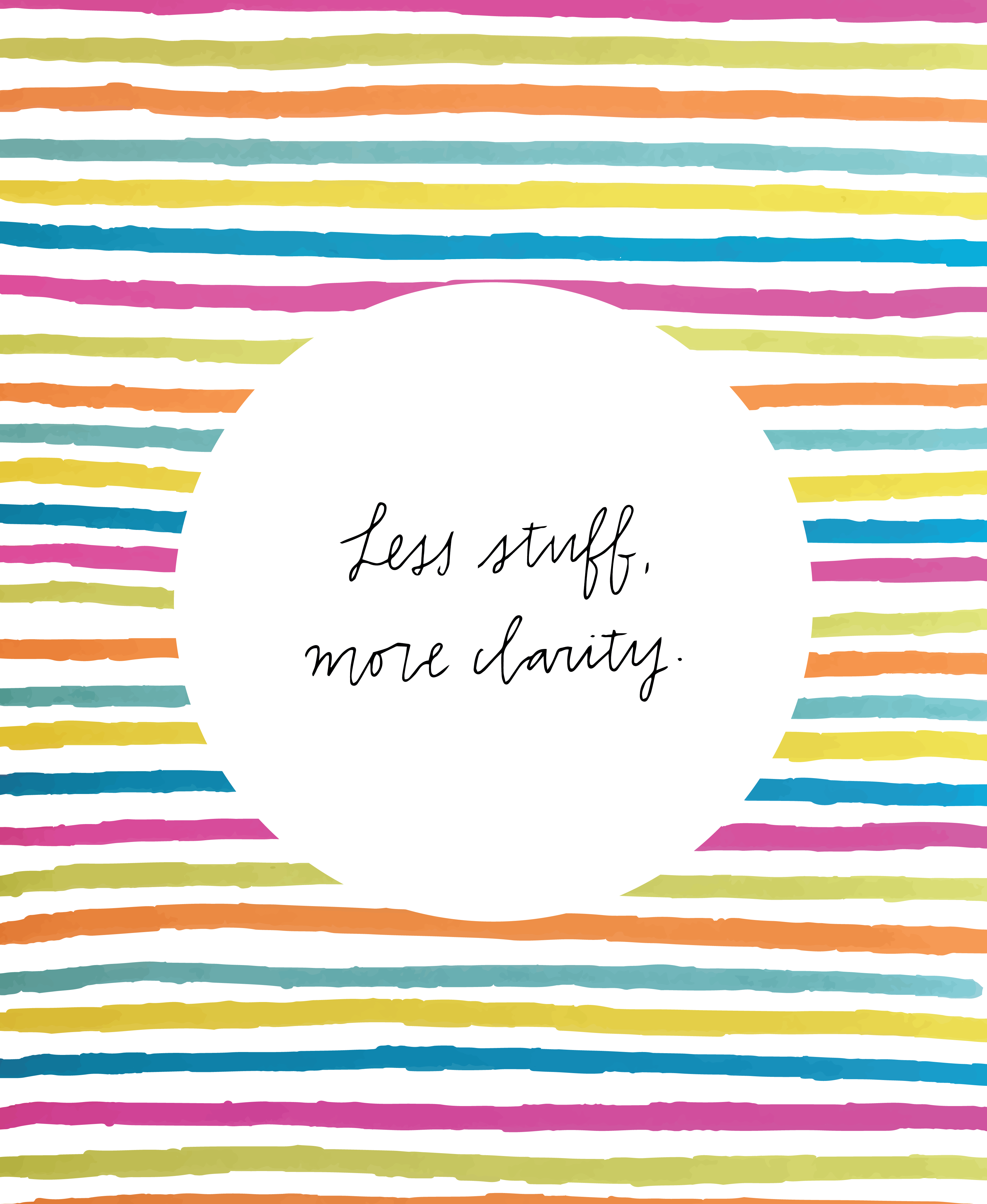 Less stuff, more clarity.