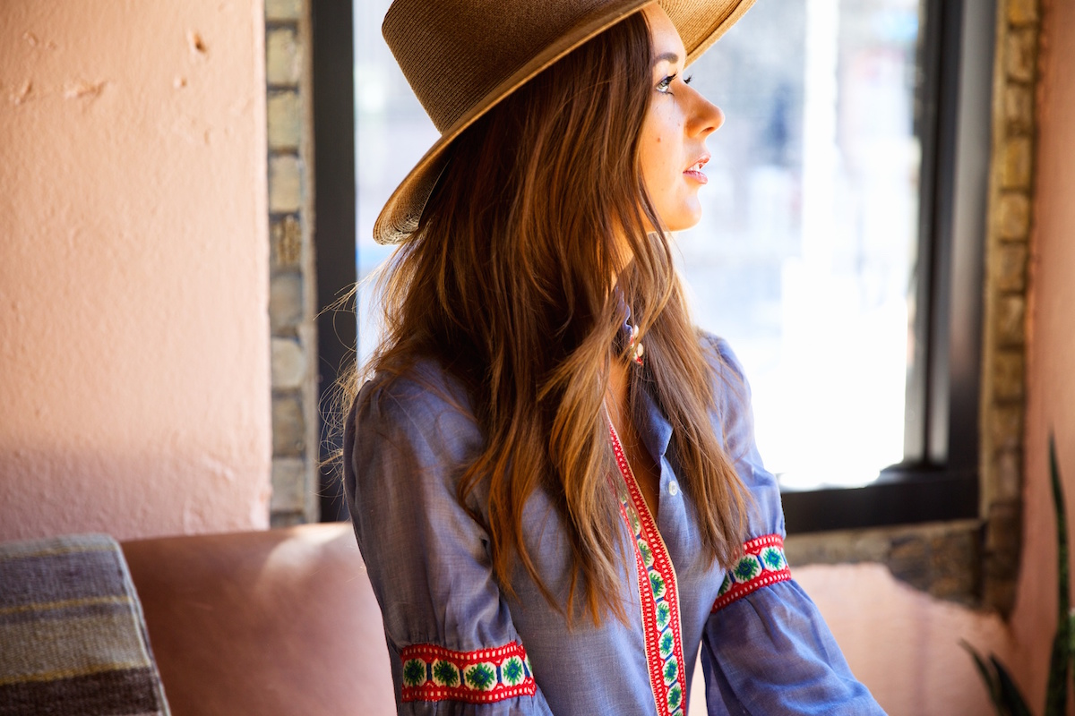 How to Wear the Embroidered Blouse - love this bohemian look for spring!
