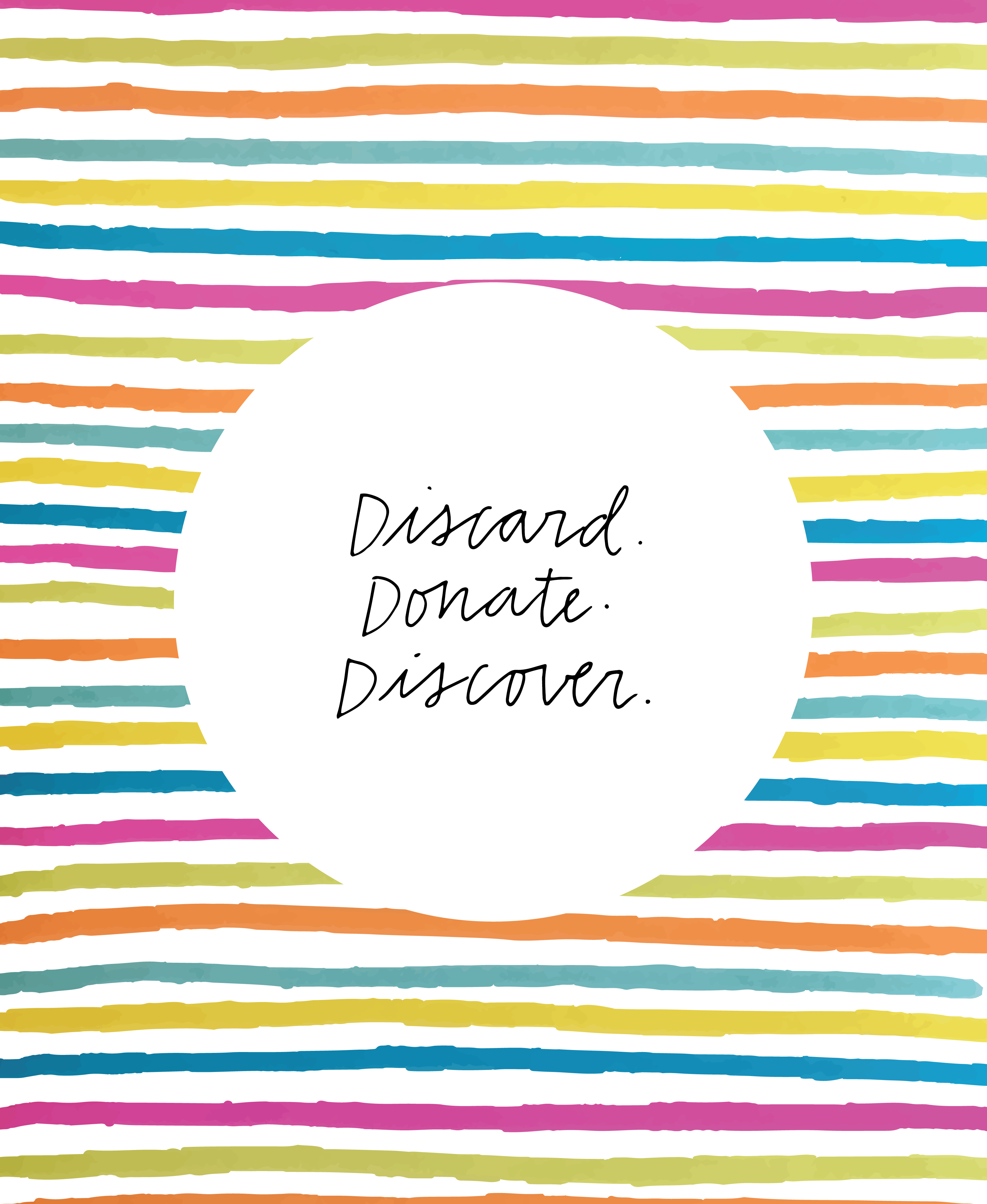 Discard. Donate. Discover.