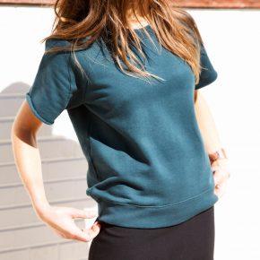 Fashion Sweatshirt with Mini Skirt + Classic Adidas Sneakers, Austin Street Style