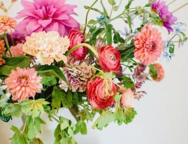bright springtime florals