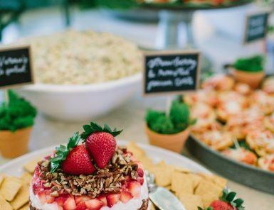 strawberry pecan tarte