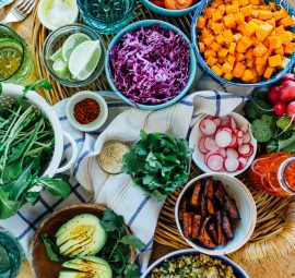 Rainbow Grain Bowls - the most colorful and healthy dish that's perfect for summertime parties