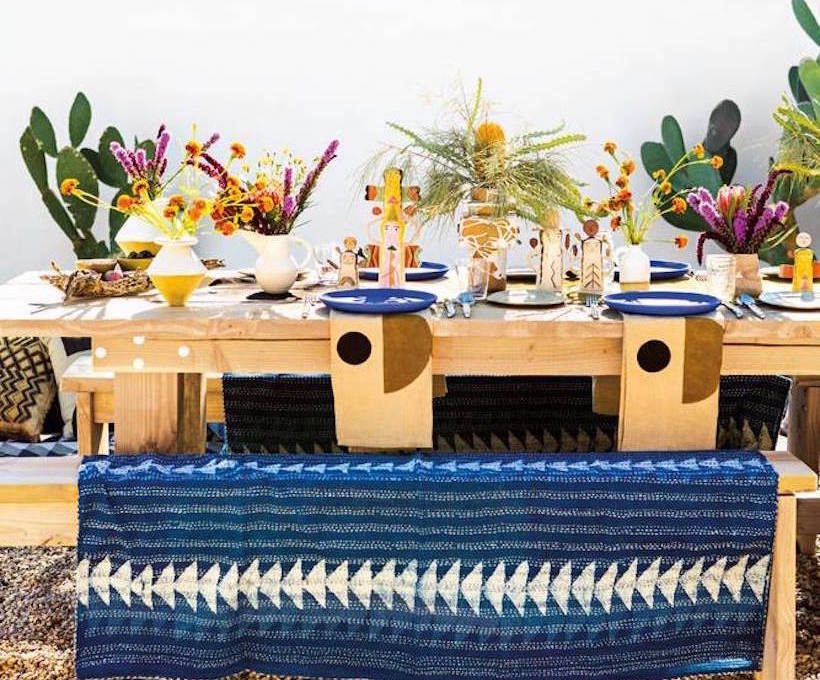 colorful california desert dinner party