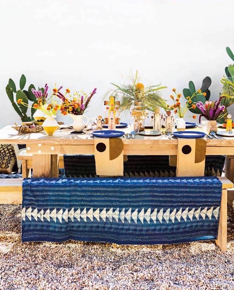 colorful california desert dinner party