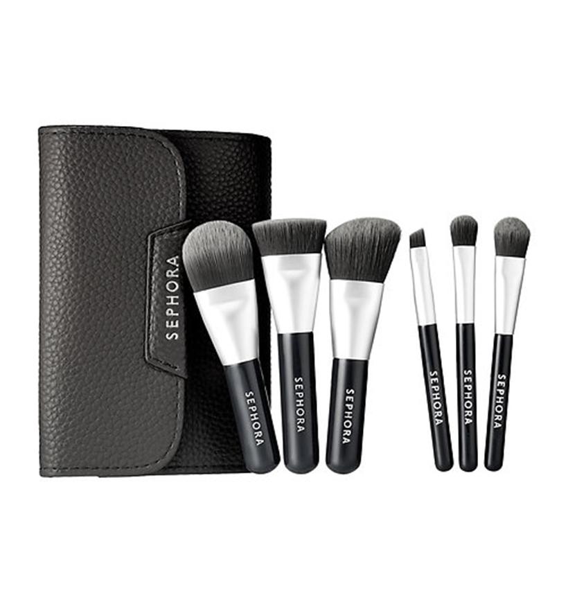 Mini Deluxe Charcoal Antibacterial Brush Set by Sephora